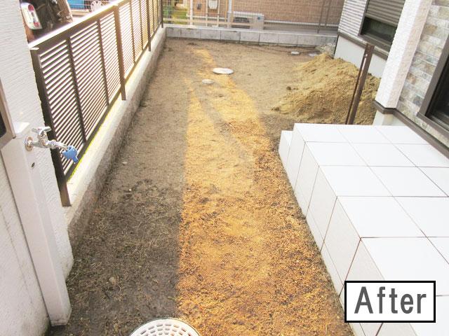 柴犬コマリ 庭工事