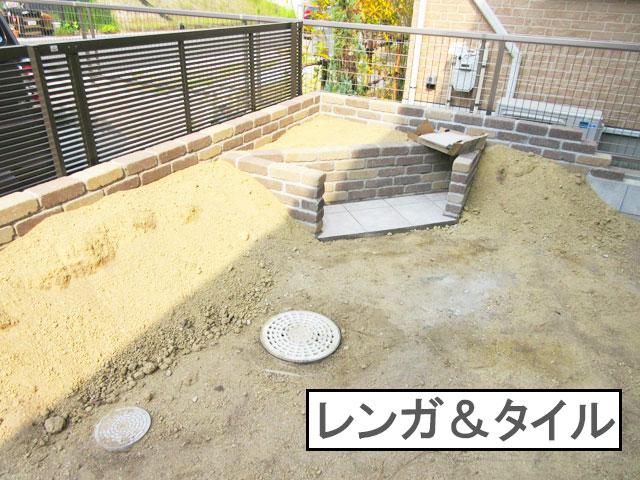 柴犬コマリ 庭リフォーム ベンチ